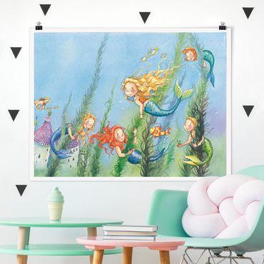 Poster - Matilda die Meerjungfrauenprinzessin - Querformat 3:4