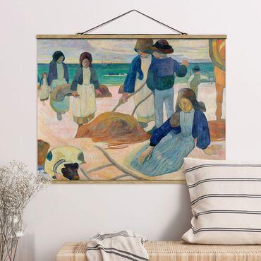 Stoffbild mit Posterleisten - Paul Gauguin - Tangsammlerinnen - Querformat 4:3