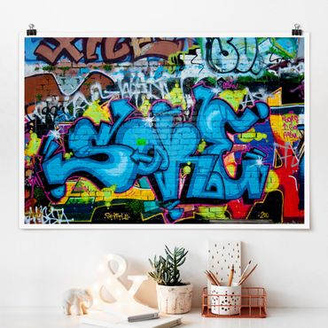 Poster - Colours of Graffiti - Querformat 2:3