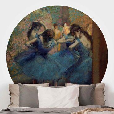 Runde Tapete selbstklebend - Edgar Degas - Blaue Tänzerinnen