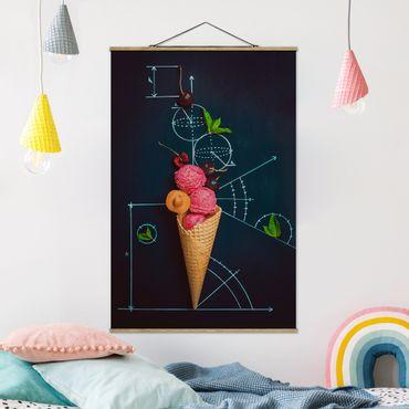 Stoffbild mit Posterleisten - Geometrie im Sommer - Hochformat 3:2