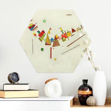 Hexagon Bild Alu-Dibond - Wassily Kandinsky - Winkelschwung