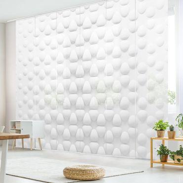 Schiebegardinen Set - Blütenmuster in 3D - Flächenvorhänge