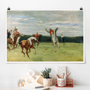 Poster - Max Liebermann - Polospieler im Jenisch-Park - Querformat 2:3