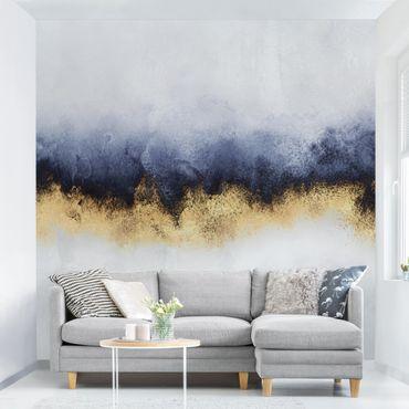 Fototapete - Wolkenhimmel mit Gold - Fototapete Breit