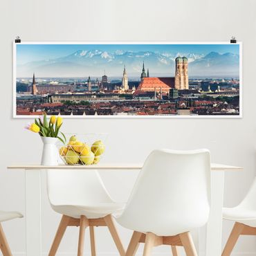 Poster - München - Panorama Querformat