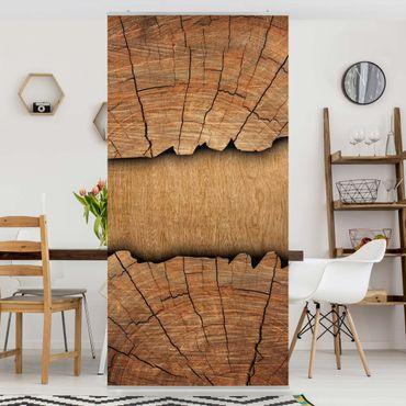 Raumteiler - Holzstruktur 250x120cm