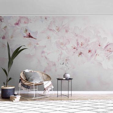 Metallic Tapete  - Ein Kirschblütenhauch