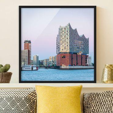 Bild mit Rahmen - Elbphilharmonie Hamburg - Quadrat