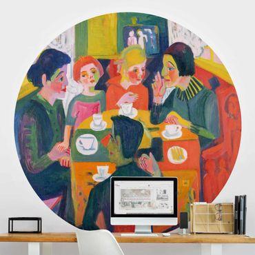 Runde Tapete selbstklebend - Ernst Ludwig Kirchner - Kaffeetisch