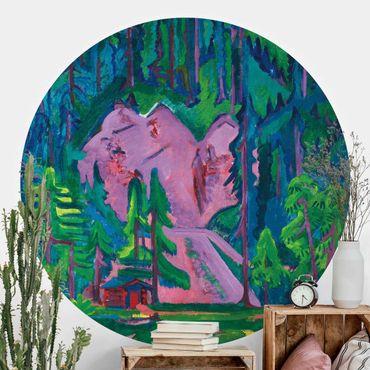 Runde Tapete selbstklebend - Ernst Ludwig Kirchner - Steinbruch bei Wildboden