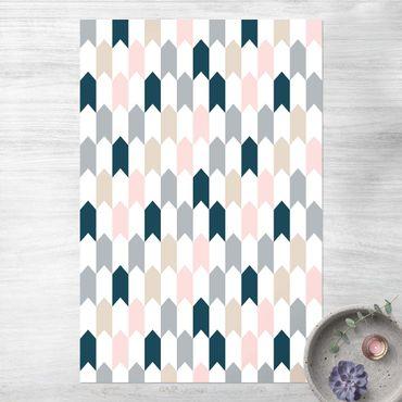 Vinyl-Teppich - Geometrisches Muster aus Pfeiltürmen - Hochformat 2:3