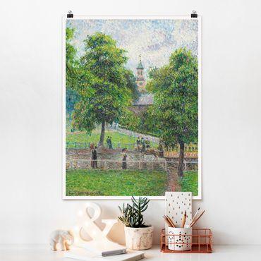 Poster - Camille Pissarro - Saint Anne's Church - Hochformat 3:4