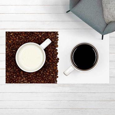 Vinyl-Teppich - Milchkaffee - Querformat 2:1