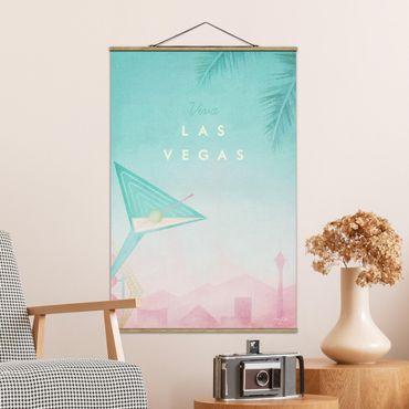 Stoffbild mit Posterleisten - Reiseposter - Viva Las Vegas - Hochformat 3:2