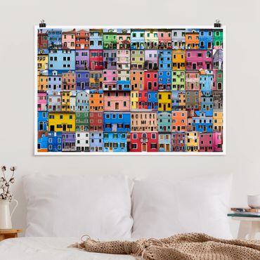 Poster - Venezianische Häuser - Querformat 2:3