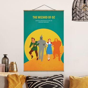 Stoffbild mit Posterleisten - Filmposter The Wizard of Oz - Hochformat 2:3