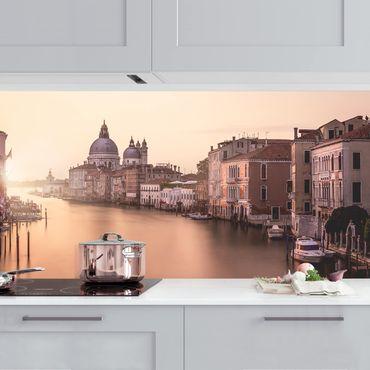 Küchenrückwand - Abendstimmung in Venedig