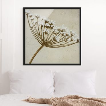 Bild mit Rahmen - Wildflower - Quadrat 1:1