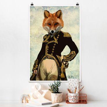 Poster - Tierportrait - Fuchsadmiral - Hochformat 3:2