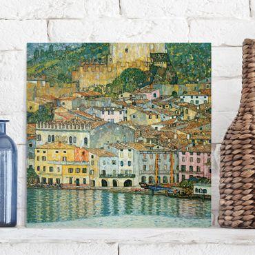Leinwandbild - Gustav Klimt - Malcesine am Gardasee - Quadrat 1:1