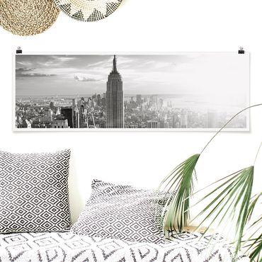 Poster - Manhattan Skyline - Panorama Querformat