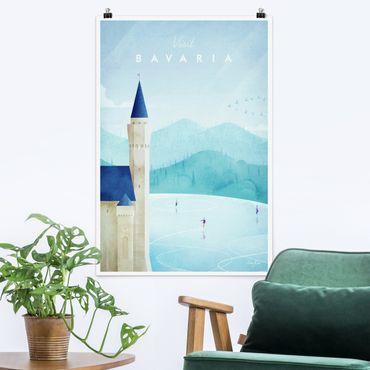 Poster - Reiseposter - Bavaria - Hochformat 3:2