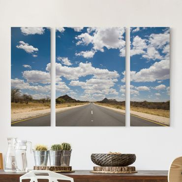 Leinwandbild 3-teilig - Route 66 - Triptychon