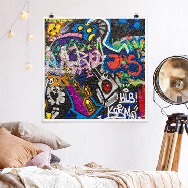 Poster - Urban Graffiti - Quadrat 1:1