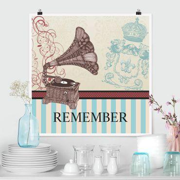 Poster - No.KA16 Remember - Quadrat 1:1