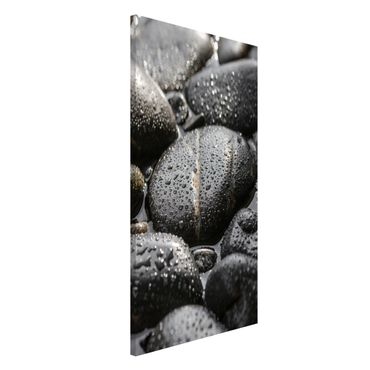 Magnettafel - Schwarze Steine im Wasser - Memoboard Hochformat 4:3