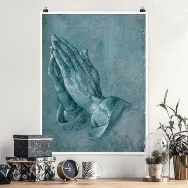 Poster - Albrecht Dürer - Studie zu Betende Hände - Hochformat 3:4