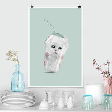 Poster - Jonas Loose - Shake mit Katze - Hochformat 3:2