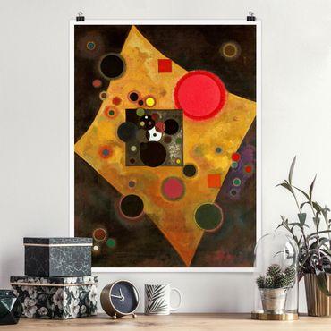 Poster - Wassily Kandinsky - Akzent in rosa - Hochformat 3:4