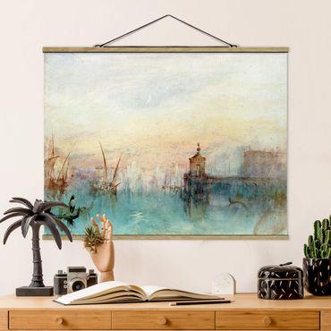 Stoffbild mit Posterleisten - William Turner - Venedig mit Mond - Querformat 4:3