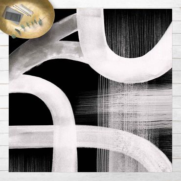 Vinyl-Teppich - Aquarellstraßen - Quadrat 1:1