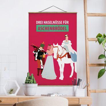Stoffbild mit Posterleisten - Filmposter Drei Haselnüsse für Aschebrödel - Hochformat 3:2