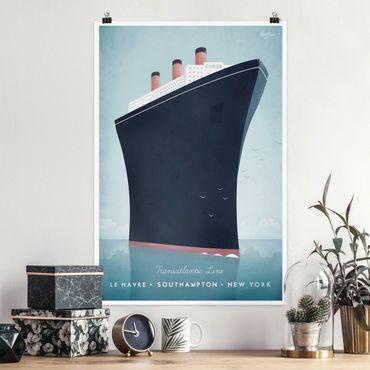 Poster - Reiseposter - Kreuzfahrtschiff - Hochformat 3:2