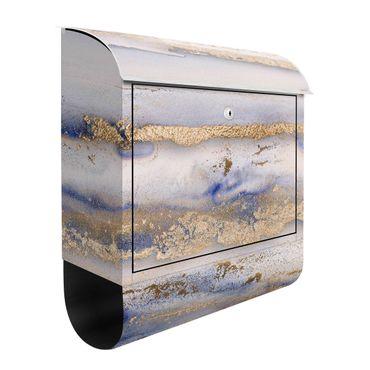 Briefkasten - Farbexperimente Marmor Gold und Blau