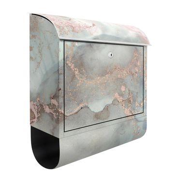 Briefkasten - Farbexperimente Marmor Pastell und Gold