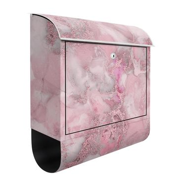 Briefkasten - Farbexperimente Marmor Pink und Glitzer