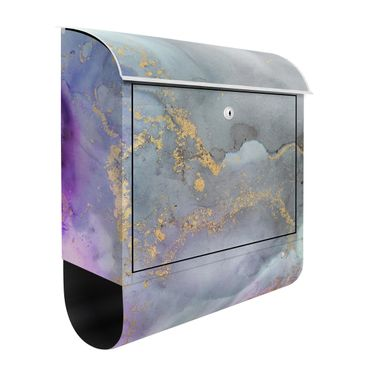Briefkasten - Farbexperimente Marmor Regenbogen und Gold