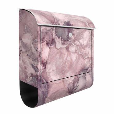 Briefkasten - Farbexperimente Marmor Violett
