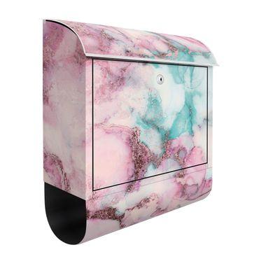 Briefkasten - Farbexperimente Pastelle Rose und Türkis