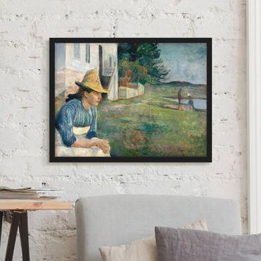 Bild mit Rahmen - Edvard Munch - Abend - Querformat 3:4