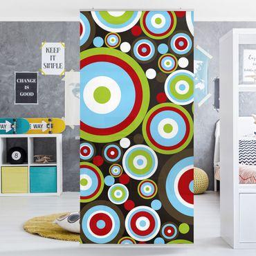Raumteiler Kinderzimmer - Abstract 250x120cm