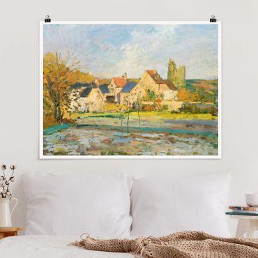 Poster - Camille Pissarro - Landschaft bei Pontoise - Querformat 3:4