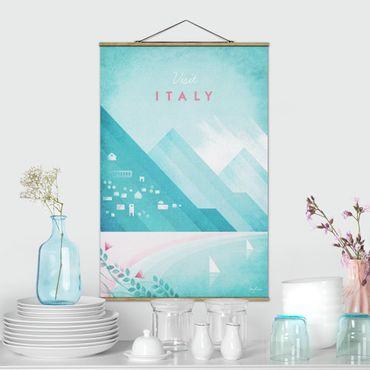 Stoffbild mit Posterleisten - Reiseposter - Italien - Hochformat 3:2