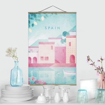 Stoffbild mit Posterleisten - Reiseposter - Spanien - Hochformat 3:2