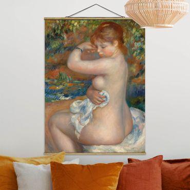 Stoffbild mit Posterleisten - Auguste Renoir - Badende - Hochformat 3:4